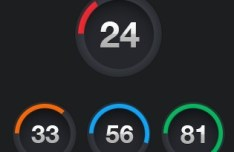 Set Of Dark Countdown Buttons with Loading Bars PSD