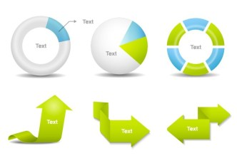 Clean Business Data Statistic Design Elements Vector 01