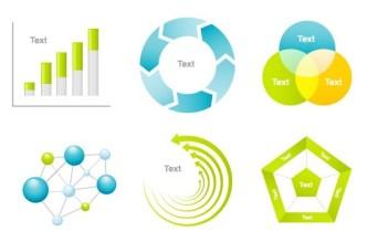 Clean Business Data Statistic Design Elements Vector 03