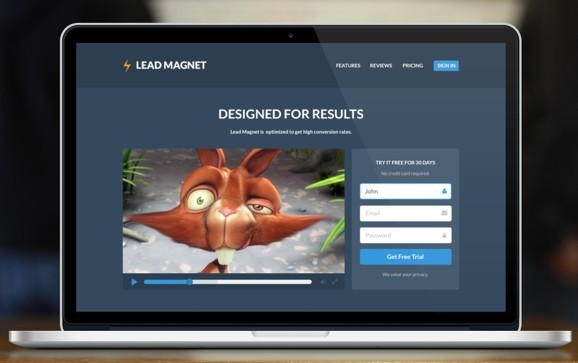 Lead Magnet Landing Page PSD Template