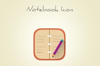 Lovely Notebook Flat Icon PSD