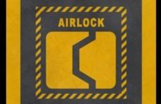 Yellow Airlock Warning Sign PSD