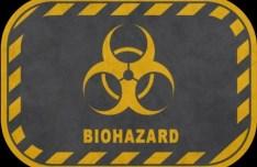 Yellow Biohazard Sign PSD