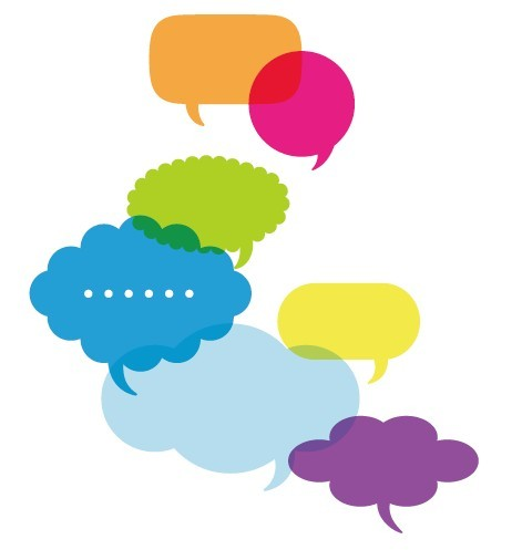 Set Of Colored Creative Speech Bubbles Vector 01