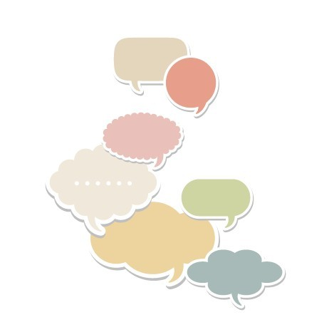 Set Of Colored Creative Speech Bubbles Vector 02