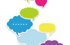 Set Of Colored Creative Speech Bubbles Vector 03