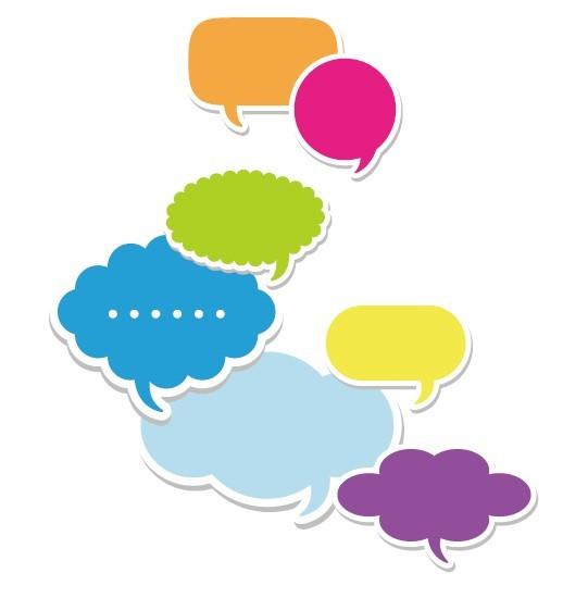Set Of Colored Creative Speech Bubbles Vector 03