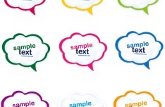 Set Of Colored Creative Speech Bubbles Vector 07