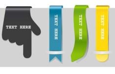Set Of Vertical Edge Ribbons Vector