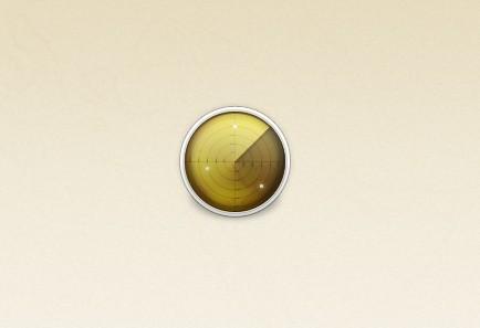 Simple Radar Icon PSD
