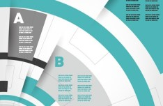 Creative Infographic Number Option Template Vector 02