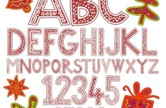 Creative Merry Christmas Alphabet Design Vector