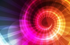 Bright Colorful Swirl Background Vector