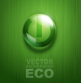 ECO Concept Green Water Drop Background Vector 02