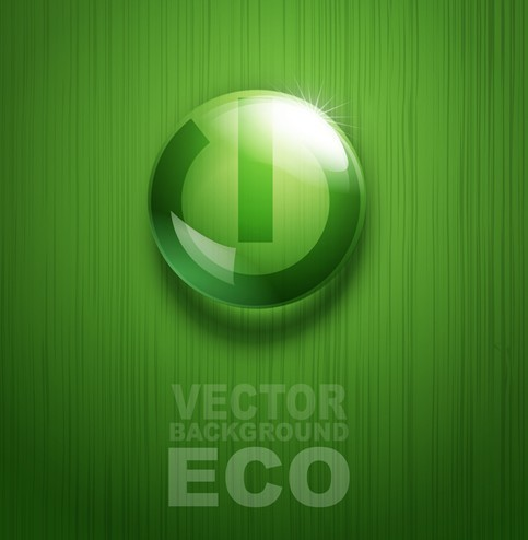 ECO Concept Green Water Drop Background Vector 02