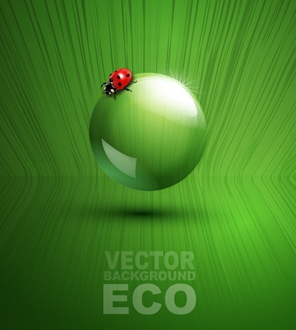 ECO Concept Green Water Drop Background Vector 04