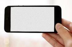 Horizontal iPhone 5 Template PSD