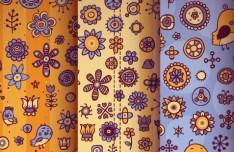 Set Of Cute Vintage Patterns Vector 01