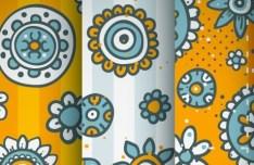 Set Of Cute Vintage Patterns Vector 04