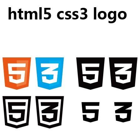 free vector html5 amp css3 logos titanui