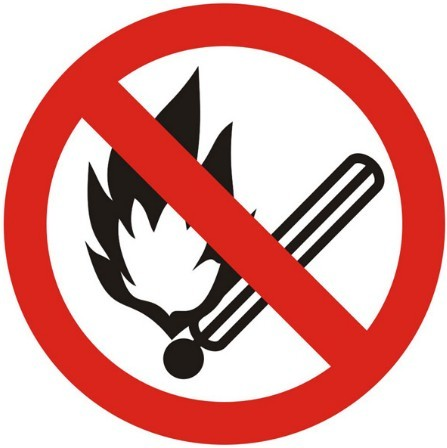 Vector No Fire Sign