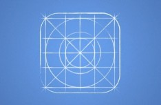 iOS 7 Icon Grid Blueprint PSD