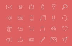 36 Thin Line Icons For iOS 7