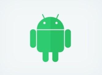 Flat Android Robot Logo PSD
