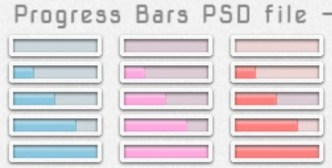 Set Of Minimal Progress Bars PSD