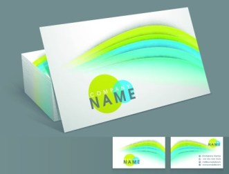 Elegant & Colorful Business Card Templates Vector 01
