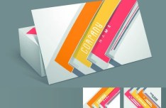 Elegant & Colorful Business Card Templates Vector 03