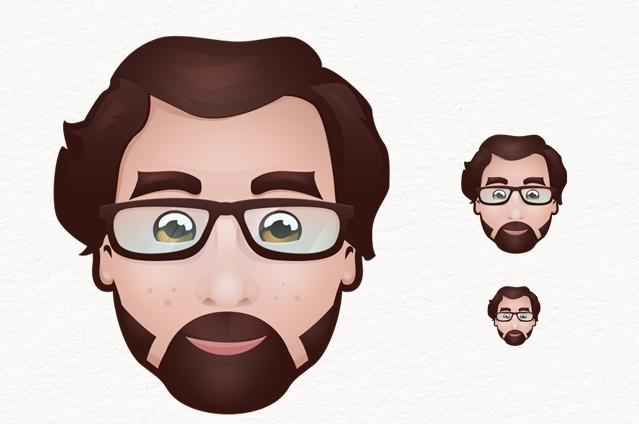 Lovely Man Head Icons PSD