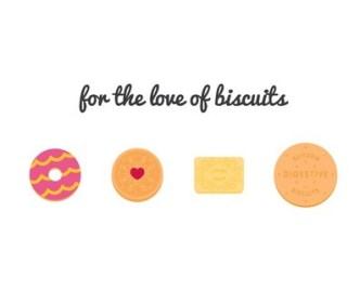 4 Sweet Biscuit Icons Vector
