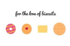 4 Sweet Biscuit Icons Vector
