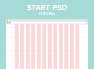 Flat 960 Pixel Grid Layout Template PSD