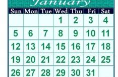Minimal 2014 Calendar Template PSD
