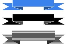 3 Ribbon Banners PSD