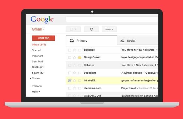 Google Gmail UI PSD