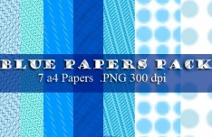 High Resolution Blue A4 Paper Textures Pack
