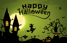 Happy Halloween Illustration Vector PSD