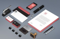 Trendy Stationery Branding Mockup PSD