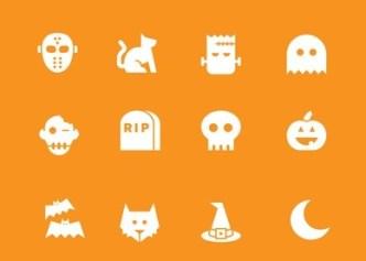 Sweet Halloween Icons Vector