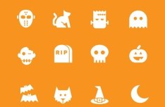 Sweet Halloween Icons Vector