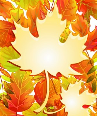 Autumn Yellow Maple Leaf Design Vector 06