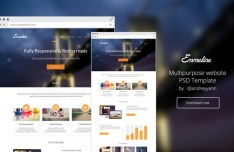 Emmeline Website Template PSD