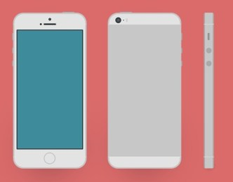 Silver iPhone 5S Mockup PSD