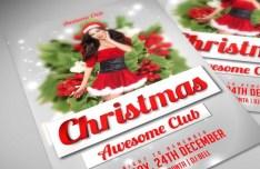 Christmas Club Flyer Template PSD