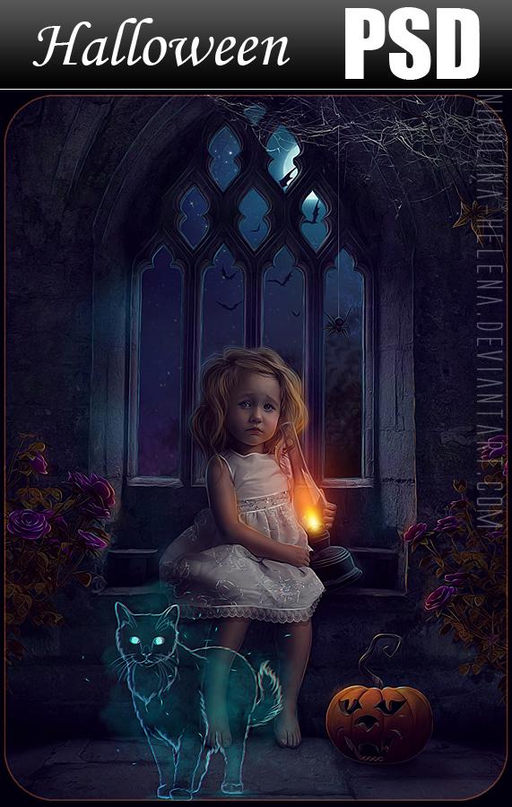 Halloween Little Girl PSD
