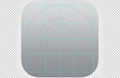 iOS 7 OCD App Icon Grid Template PSD
