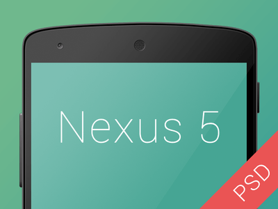 Black Google Nexus 5 PSD Mockup